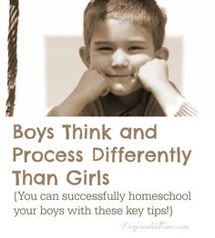 There is now clear scientific evidence showing that boys not only behave differently than girls, they also hear, see, think, respond to stress differently. Raising Boys, Home Schooling, Kids Education, Childhood Education, Kids Learning, Teaching Boys, Learning Resources, Child Development, Parenting Hacks
