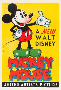 """Mickey Mouse Stock Poster (United Artists, 1932). One Sheet (27"""" X41"""")."""