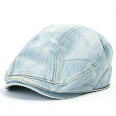 ililily Denim Newsboy Flat Cap