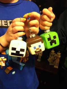 DIY Minecraft ornaments!