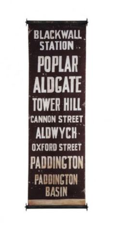 London Tube Antique Subway Wall Art Canvas Sign Old Vintage Style Train Banner