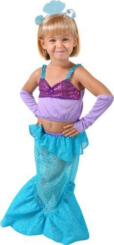 little mermaid toddler halloween costume sz 4t - 4t Halloween Costumes Girls