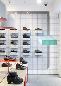 Camper store in London by Tomás Alonso. Tiles mess with your miiiiinnnnd