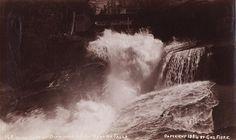GEORGE FISKE  1835 - 1918 Cataract of Diamonds, below Nevada Fall. ca. 1880s