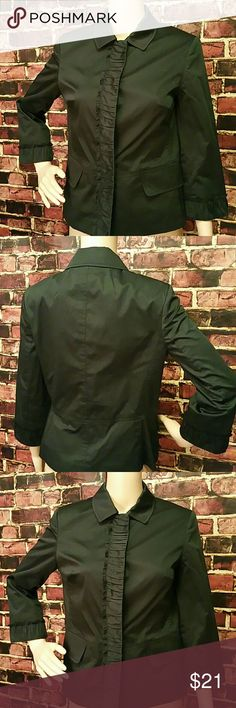 Talbots Blazer Talbots Blazer with Snap buttons. Color: Black. 96% cotton, 4% elastane, Lining: 100% polyester. Waist: 35 inches. Flat Measurements= Shoulder Measurements: 14 inches, Length: 24 inches. **Seller's Discount: 20% Off 2 or more items** Talbots Jackets & Coats Blazers
