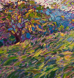 Lighted Grass - Contemporary Impressionism | Landscape Oil Paintings for Sale by Erin Hanson