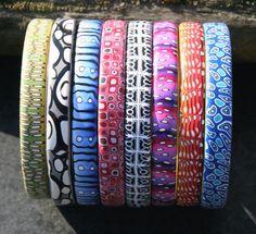 Bangles by Beadelz polymer crea's, via Flickr