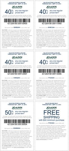 Jo-Ann Fabric coupons & Jo-Ann Fabric promo code inside The Coupons App. off a single item at Jo-Ann Fabric, or online via promo code May Save My Money, Ways To Save Money, Printable Coupons, Printables, Saving Money, Money Savers, Joann Fabrics, Saving Ideas, Cool Words