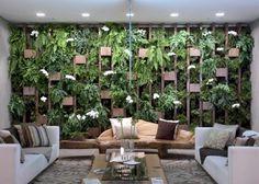 Decoração jardim suspenso projeto casa flores