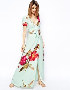 ASOS Wrap Maxi Dress in Rose Print!! Gorgeous Dress, if anyone knows where I can find it, just shout out :-)