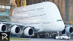 Watch 10 Abnormally Large Airplanes That Actually Fly! Airbus A380, Airplane History, Airplane Drone, Cruiser Boat, Aviation Humor, Air Travel, Youtube, Military Vehicles, Construction