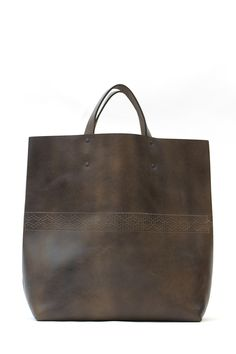 Interlaced Leather Tote #leather #tote #bag