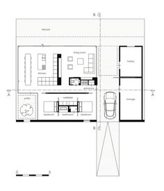 Small House Plans, House Floor Plans, Villa, Courtyard House, Residential Architecture, Architecture Layout, Design Case, Planer, House Design