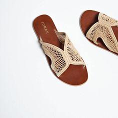 Mules raphia ajourées Femme beige | Jonak Flats, Sandals, Slip On, Inspiration, Women's Shoes, Vegan, Boutique, Clothing, Kitten Heels