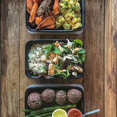 Shout-out to all those who finished their #mealprep for part or all of the week! My flight from Phoenix arrived at 4:30am so I didn't get to bed until about 6:30am, only to get back up at 8am. Im proud of myself for getting these meals prepped and I'm proud of YOU for pushing past inconvenience to achieve your wellness goals. - Here's what on my plate: 1) mustard chicken (recipe on website and in FMC apps) with air-fried sweet potato wedges; 2) baked trout with mixed greens and savory…