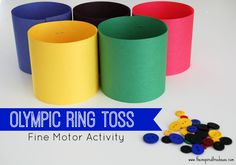 Olympic Ring Toss Fine Motor Activity