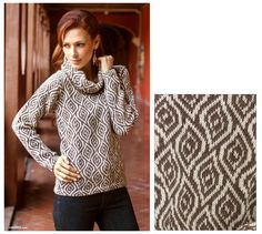 Fair Trade Alpaca Wool Turtleneck Sweater - Dancing Brown Leaves | NOVICA #fashiontakesaction would pair with jeans and boots