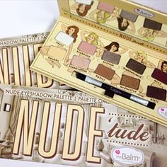 You may be familiar with this eyeshadow palette called Nude 'Tude from The Balm cosmetics company.