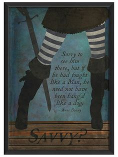 Pirate Anne Bonny by Artwork Enclosed on Gilt Home