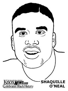 black history month coloring pages shaquille oneal