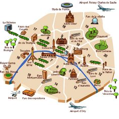 Jaime Paris Tourist Site France And Buckets - Paris map monuments