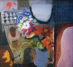 Ivon Hitchens, Blue vase on ArtStack #ivon-hitchens #art