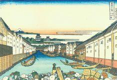 「江戸日本橋」 葛飾北斎 富嶽三十六景42
