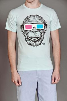 Ames Bros 3D Monkey Tee.   Thinking of Danny.  :)