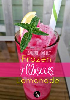 This gorgeous Frozen Hibiscus Lemonade is made with all-natural antioxidant rich hibiscus flowers, not artificial colors. Stevia sweetened and THM friendly!