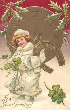 New Year Greeting - Vintage Card