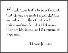 from the declaration of independence