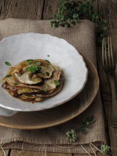 lasagnette di farina di castagne con funghi e formaggi 2