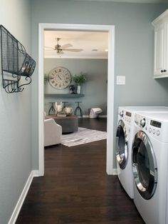 Laundry room paint color: Fixer Upper: Yours, Mine, Ours and a Home on the River House, Interior, Home, Home Remodeling, House Styles, Fixer Upper, New Homes, Room Colors, Room Paint