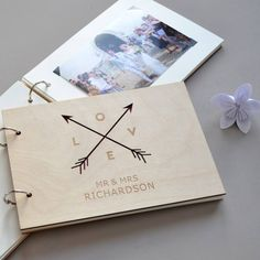 Personalised Love Arrows Guest Book