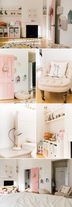 pretty pastel pink girls room | how to decorate with pink | girls bedroom ideas | girls bedroom decor | ideas for a girls bedroom | bedroom storage ideas
