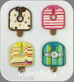 Popsicle Shape Gtube Pad Feeding Tube Covers by AdorabellyDesign on Etsy