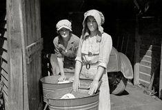 wash boards | March 1936. Women washing clothes. Crabtree Recreational Project near ...