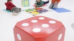 Cómo hacer un dado gigante para los niños