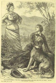 1884 Engraving Dick Dryden's Bonanza Nora Dauntless