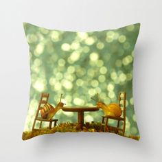 Table For Two In The Rain Pillow Cover Tiny от machelspencePHOTO, $28,00