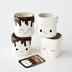 Cute Coffee Cups & Mugs Marshmallow Shaped Hot Chocolate Mugs-Ceramic-Set - Cupping Coffee - Ideas of Cupping Coffee - Cute Coffee Cups & Mugs Marshmallow Shaped Hot Chocolate Mugs-Ceramic-Set Price :