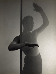 Lyrical study of the dancer John George,1950. Minor White. Silver print