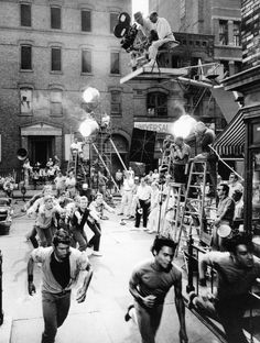 On the set of WEST SIDE STORY, 1961