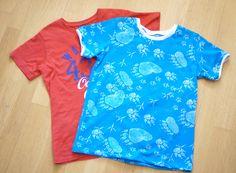 Nähtipp: Ein T-Shirt ohne Schnittmuster nähen – Yingdesign.ch – Bio Stoffe für Künstlerinnen Floral Tops, Design, Fashion, Shirt Sewing Patterns, Moda, Top Flowers, Fashion Styles, Fashion Illustrations