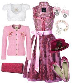 """#Farbbberatung #Stilberatung #Farbenreich mit www.farben-reich.com Pink geht es her mit dem AlpenHerz Dirndl """"Viktoria"""" aus Halbseide."""