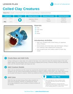 Coiled Clay Creatures: Free Lesson Plan Download