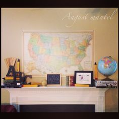 August mantel, back to school