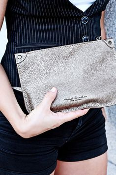 Gold Leather Clutch / Women clutches /  Women Clutch /Gold Clutch / Evening Small Bag