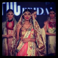 Bridal Collection by Ali Xeeshan Ali Xeeshan, Indian Bridal, Bridal Collection, Catwalk, Desi, Mango, Saree, Jewellery, Clothes