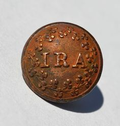 Irish Republican Army Button Civil War Ireland Fenian Shamrocks Ira I R A   eBay
